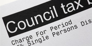 Photograph of Council Tax headed paper