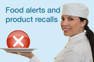Food alerts and product recalls