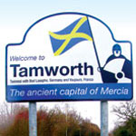 Tamworth boundary sign